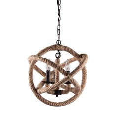 We love this ceiling lamp for both its rustic and sophisticated sensibilities. The mix of rustic rope and industrial steel makes it the perfect piece to inspire some nautical adventures.  Find the Rope Sphere Pendant Lamp, as seen in the An Industrial Treasure Hunt Collection at http://dotandbo.com/collections/an-industrial-treasure-hunt?utm_source=pinterest&utm_medium=organic&db_sku=89305