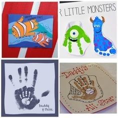 25 hand print gift ideas for Father's Day- these are adorable!