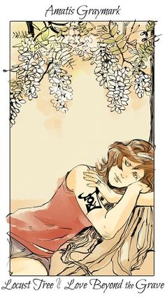 From Cassandra Jean ...  amatis garroway/herondale, flower card, the mortal instruments
