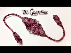 Macrame tutorial - how to make a Guardian bracelet - Hướng dẫn thắt vòng tay chiến binh - YouTube
