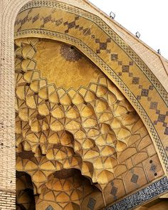 Celling of Jameh's mosque in EsfahanIran 900 years old Photo by @m1rasoulifard  سقف ایوان مسجد جامع عتیق اصفهان  #iran #esfahan #iran_architecture_photography #mosque #brick #art #arc #arch #architect #architecturelovers #archilovers #architecture #desing #designer #building #classic #structure ##urban #picture #pic #photo #photograph #photographer by m1rasoulifard