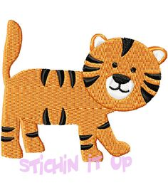 4X4 Baby Tiger Machine Embroidery Design Multiple by StichinItUp, $1.75