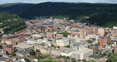 Scenic photo of the city of Johnstown, PA, as viewed from the top of the Johnstown Inclined Plane. Flight 93 Memorial, Johnstown Pennsylvania, Johnstown Flood, Pennsylvania History, Travel Pictures, Travel Pics, Places Ive Been, Paris Skyline, Dolores Park