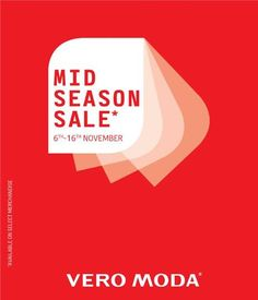 Get cozy, look pretty, grab the latest trends at #VeroModa #Forum Mall offering Mid Season Discounts.