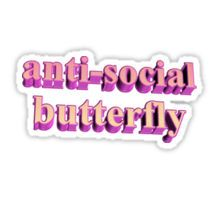 ANTISOCIAL BUTTERFLY TUMBLR Sticker