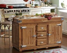 Building an island in a kitchen is a process! This new Berthillion French Kitchen Island is new from Williams Sonoma it has great reviews and would add character to any coastal kitchen!