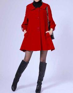 Red swing coat.