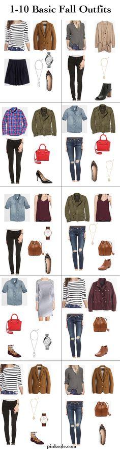 Basic Fall Outfits via Pinksole.com
