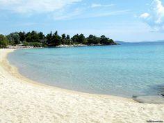 Kalogria Beach - Halkidiki via Σαν τη Χαλκιδική δεν έχει Halkidiki Greece, Macedonia, Greek Islands, Beautiful Beaches, Heaven, Earth, Sky, Water, Board