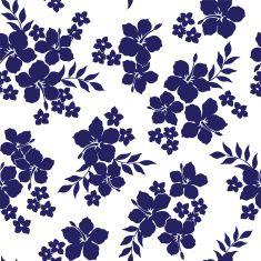 pattern of the Hibiscus vector art illustration
