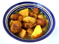"CHILI & VANILIA: Török csirkeragu ""Ciya módra"" (birsalma, gesztenye) Chili, Potatoes, Vegetables, Chilis, Potato, Veggies, Vegetable Recipes, Chile"