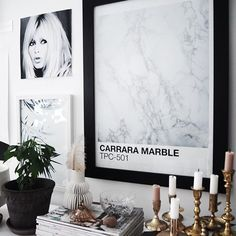 Hello beautiful  Our Carrara Marble print + Palm Leaves styled by @emabihor  Love Ema... Everything she touches turns to Gold ? #theprintableconcept #artshopgonerogue