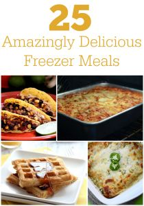 25 Simple Freezer Meals to try. Whether you have a busy life or you are a new mom, use these recipes to stock your freezer.