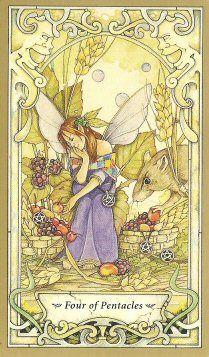Mystic Faerie Tarot - http://www.amazon.com/Guide-Mystic-Faerie-Tarot/dp/0738709212/ref=sr_1_1?s=books&ie=UTF8&qid=1385350405&sr=1-1&keywords=mystic+faerie+tarot