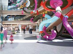 The Royal Children's Hospital Melbourne Old Hospital, Childrens Hospital, Hospital Signage, Art Public, Hospital Design, Grades, Indoor Playground, Children Playground, Healthcare Design