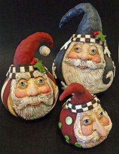Santa gourds ART DOLL