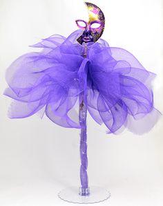 Party Ideas by Mardi Gras Outlet: Masquerade Column Deco Mesh Centerpiece: Tutorial