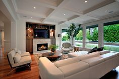 Mathers Avenue Residence - contemporary - family room - vancouver - Erica Winterfield Design