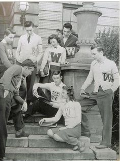 "Letterman sweaters, or also known as varsity jackets, were worn by many highschool or college athletes during the 1930s.  These jackets were awarded based on the athletes accomplishments or whether they were a team captian, ect.  The ""letter"" on the jacket is earned as a reward, not just given."