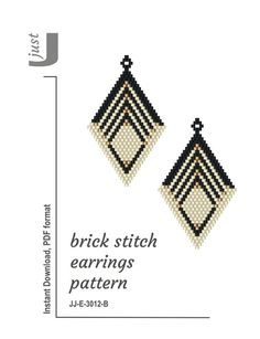 beaded earrings how to make Bead Crochet Patterns, Bead Crochet Rope, Beading Patterns, Crochet Geek, Beaded Earrings Patterns, Jewelry Patterns, Bracelet Patterns, Art Patterns, Seed Bead Jewelry