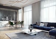 29 Ideas apartment living room design modern accent walls for 2019 Living Room Interior, Home Living Room, Apartment Living, Living Room Designs, Luxury Homes Interior, Luxury Home Decor, Home Interior Design, Interior Decorating, Apartment Design