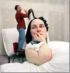 "Ron Mueck, ""In Bed"""