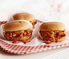 quick weight loss: Crockpot BBQ Pork Sandwiches WW Plus+ = 6