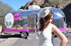 The Kiss N Makeup Parlour / Airstream Salon / Hair & Makeup Salon on wheels