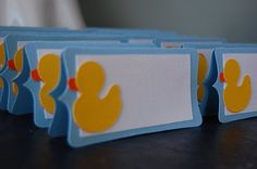 Rubber Duck Food Labels, Rubber Duck Place Cards, Seating Cards, Rubber Duck Party,  12 Pcs via Etsy