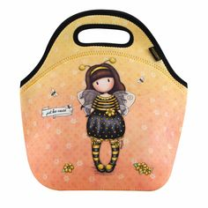 Santoro yellow bag Gorjuss Bee-Loved (Just Bee-Cause) Santoro London, Neoprene Lunch Bag, Nyc, Snack Bags, First Girl, Chickens Backyard, Lunch Box, Yellow, Unique Backpacks