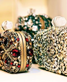 Bejeweled Marchesa clutches. Divine