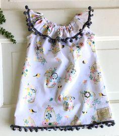 Boho baby dress boho toddler dress pom pom dress special