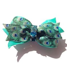 For Paisley when I get married Peacock hair bow,peacock dog hair bows,dog bows,Infant headband,Purple and green hair bow,Turquoise hair bow, pet accessory,infant bow