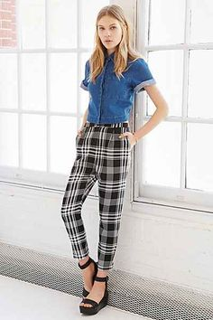 Cooperative Skinny Check Trouser Pant
