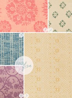 Summers in France - Kathryn Ireland's fabric collection - includes florals in various colourways