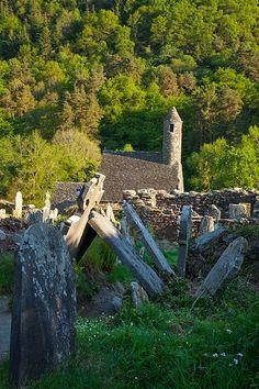 Glendalough cemetery, county Wicklow, Ireland