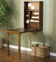 For my entry way! Small Space Solutions - Convertible Desk - Wayfair.com