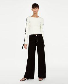Imagem 1 de CAMISOLA COM FAIXAS A CONTRASTAR da Zara