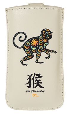 Monkey Chinese Zodiac Leather Phone Case (available for iPhone 4/4S/5, HTC One X/V, Samsung Galaxy S3