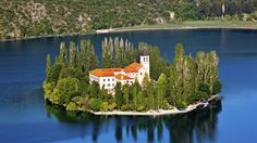 Visovac Monastery in Croatia - Click image to find more Travel Pinterest pins