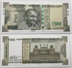 new 500 and 2000 currency notes photo pics by RBI Five Hundred, Bank Of India, Notes, Personalized Items, Report Cards