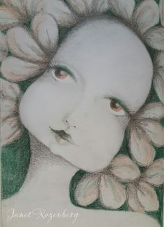 Dryad - pencil pastel drawing painting shadowheartchallenge day 14
