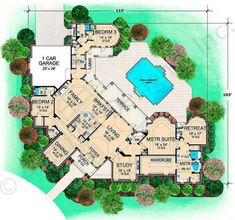 Villa Rica House Plan - Main Floor Plan