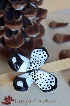 Linfa Creativa: Squame di pigna e ali di farfalla