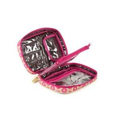 Stephanie Johnson Gidget Compact Brush Case - Bollywood Pink. This would be great for my everyday makeup. Only problem is it's a little small. I just want a stinkin' makeup bag that also holds all my brushes!