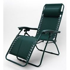 Deluxe Zero Gravity Outdoor Folding Recliner, Color Forest Green « zPatioFurniture.com