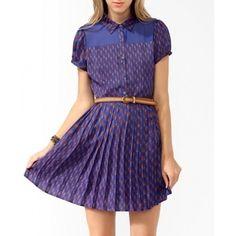 NWT FOREVER 21 Floral Chiffon Panel Dress ROYAL BLUE / ORANGE SIZE M