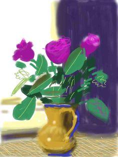 David Hockney Paint On iPod - Bing Images David Hockney Ipad, David Hockney Art, David Hockney Paintings, Pop Art Movement, Sculpture Painting, Ipad Art, Arte Pop, Art For Art Sake, Flower Art