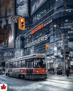 Toronto Streetcar 🇨🇦 Toronto Street, Toronto City, Toronto Photography, Urban Photography, Street Photography, Places Around The World, Around The Worlds, Vancouver, Places To Travel