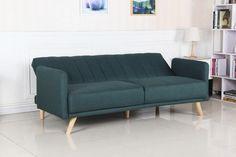 Sofa tapicerowana z funkcją spania do salonu